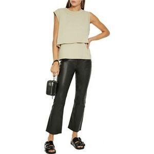 NWT rag&bone Nina High Rise Ankle Flare Leather